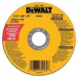 "Disco ultra delgado de corte para Metales 4 1/2"" x 0,045"" x 7/8"", 115 x 1.14 x 22mm"