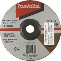 """Disco Abrasivo para Desbaste en Acero Inox 7"""" Makita A-80880"""