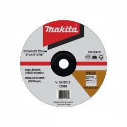 "Disco Desbaste Acero Inoxidable 9"" X 6.0 X 22.2 Industrial Makita (A-80896)"