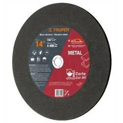 Disco para corte de metal, tipo 1, diámetro 14'