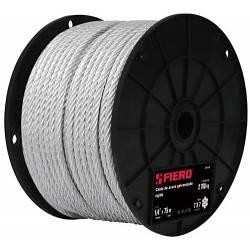 Cable de acero 1/4', rígido