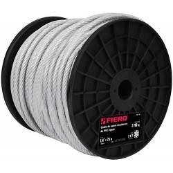 Cable de acero 1/4', rígido recubierto