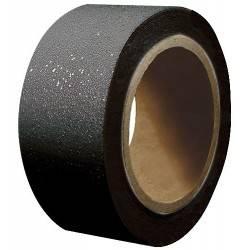 Cinta adhesiva antiderrapante en rollo, negra
