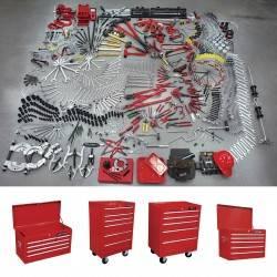 Juego maestro industrial 941 piezas con gabinetes