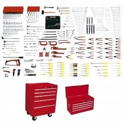 Juego maestro industrial 437 piezas con gabinetes