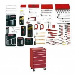 Juego intermedio industrial 210 piezas con gabinete 9996XP