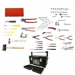 Juego básico industrial 68 piezas con gabinete 9901