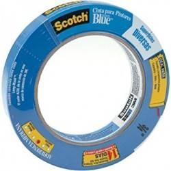 """2090 Masking Tape 1"""" X 60 YD Profesional para pintor Azul"""