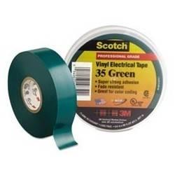 Cinta Aislante de PVC Scotch® 35 Verde de 0.019 X 20 M