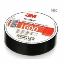 Cinta  Aislante de PVC Temflex® 1600 Negra de 0.019 X 18M