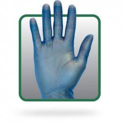 Powder Free Blue Vinyl Gloves GVP9-(SIZE)-1-BL