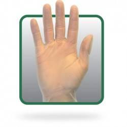 Guantes de vinilo transparente con polvo GVDR-(SIZE)-1C
