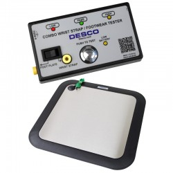 Wrist Strap and Footwear Combo Tester with Footplate