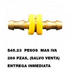 CONECTOR MANGUERA DE LATON MILTON 1742-6 3/8''X3/8''