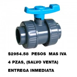 VALV. PVC C-80 D/U SOLD. 102MM  4