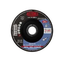 Disco de corte 2 en 1 para acero al carbón y acero inoxidable de 115 x 1.6 x 22.23, EASY CUT